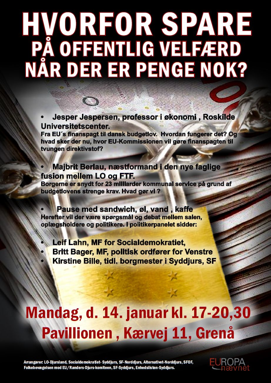 Mandag, d. 14. januar kl. 17-20,30 Pavillionen , Kærvej 11, Grenå