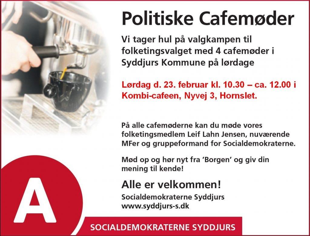Cafe møde 23.februar 2019 i Hornslet