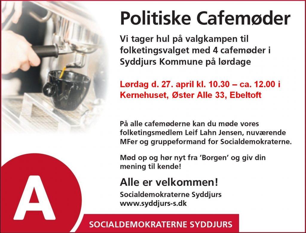 Cafe møde lørdag den 27.april 2019 i Ebeltoft