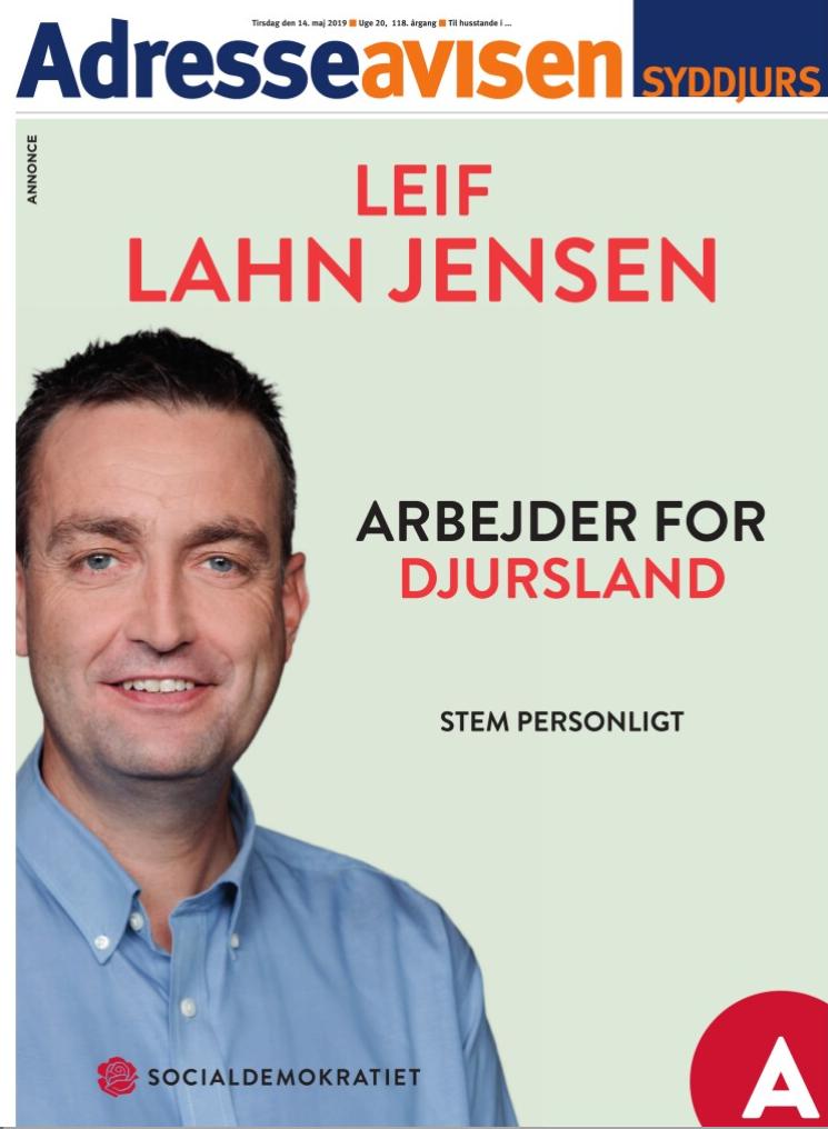 Leif Lahn  Jensen Folketingsmedlem fra Djursland for Djursland